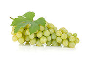 Fresh ripe grapes. Isolated on white background